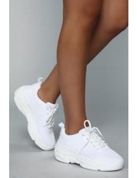 Like I Said Sneaker   White by Fashion Nova