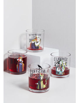 Evil Does It Disney Villains Glass Set by Modcloth