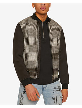 |X Armani Exchange Men's Lightweight Houndstooth Jacket by A|X Armani Exchange