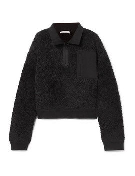 Oversized Wool Blend Fleece Sweatshirt by T By Alexander Wang