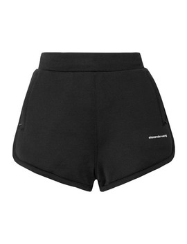 Printed Coated French Cotton Blend Terry Shorts by T By Alexander Wang