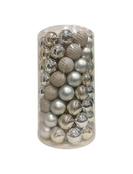 100ct Ornament Set Silver   Wondershop™ by Wondershop