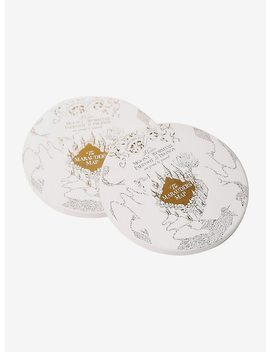 Harry Potter Gold Marauder's Map Coaster Set by Hot Topic
