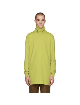 Green Jersey Turtleneck by Rick Owens
