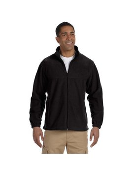 Harriton M990 Mens Full Zip Fleece Jacket   Black   X Large by Harriton