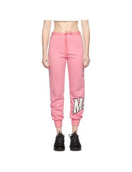 Pink Palm Tree Logo Lounge Pants by Msgm