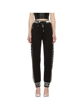 Black Logo Lounge Pants by Dolce & Gabbana