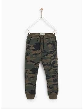 Camouflage Jogging Trousers  Trousersboy by Zara
