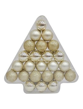 24ct 40mm Ornament Set Champagne   Wondershop™ by Wondershop