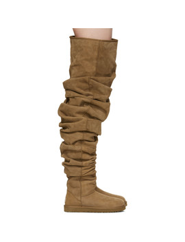 Brown Uggs Edition Classic Extra Long Boots by Y/Project