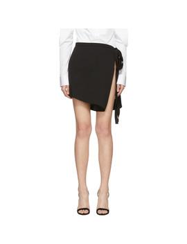 Black Open Side Miniskirt by Y/Project