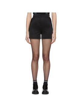 Black Logo Shorts by Versus
