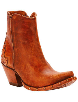 Ariat Women's Fenix Studded Sidewall Western Boots   Snip Toe by Ariat