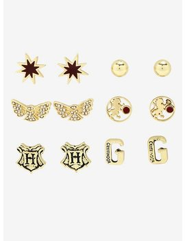 Harry Potter Gryffindor Earrings Set by Hot Topic