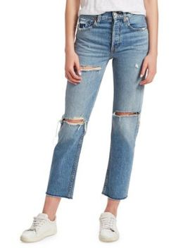 Stovepipe Distressed Jeans by Re/Done
