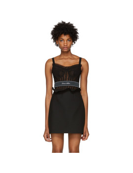Black Tulle Bustier by Dolce & Gabbana