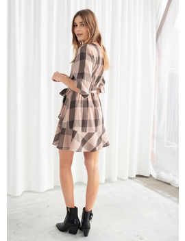 Belted Plaid Mini Dress by & Other Stories