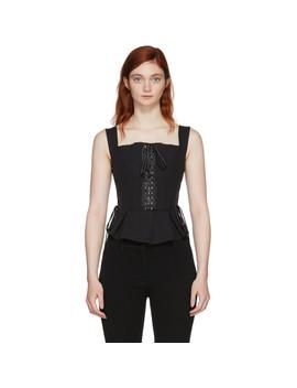 Black Lace Bustier by Dolce & Gabbana