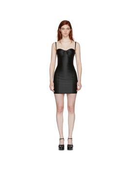 Black Sateen Bustier Dress by Dolce & Gabbana