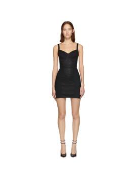 Black Lace Bustier Dress by Dolce & Gabbana