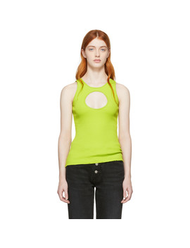 Green Hole Tank Top by Vetements