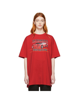 Red Car Hotline T Shirt by Vetements