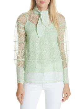 Tie Neck Lace Blouse by Sandro