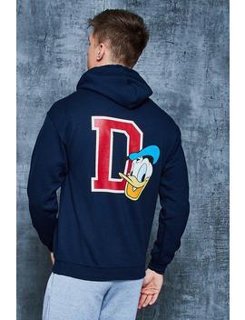 Disney Varsity Donald Duck 'd' Hoodie by Boohoo