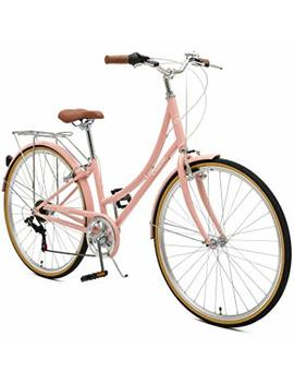 Retrospec By Westridge Critical Cycles Beaumont 7 Seven Speed Lady's Urban City Commuter Bike; 38cm, Blush Pink, 38cm/Small by Retrospec By Westridge