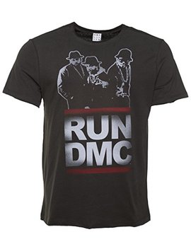 Amplified Mens Charcoal Run Dmc Silhouette T Shirt From by Amplified