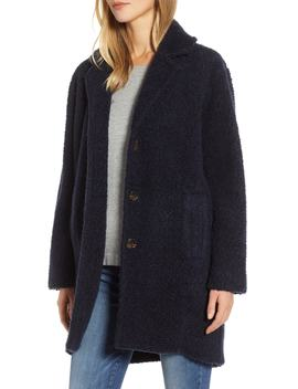 Koba Curly Brushed Wool Blend Coat by Lou & Grey