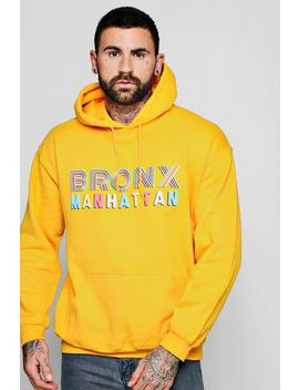 Brony Front And Back Print Hoodie by Boohoo