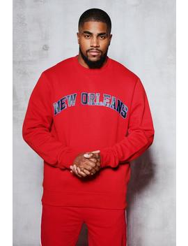 Big And Tall New Orleans Sweater by Boohoo