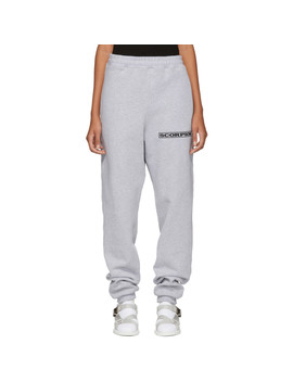 Ssense Exclusive Grey Scorpion Embroidered Sweatpants by Scorpion For Ssense