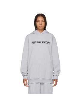 Ssense Exclusive Grey Scorpion Embroidered Hoodie by Scorpion For Ssense