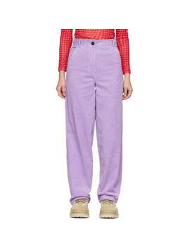 Purple Work Trousers by Ashley Williams