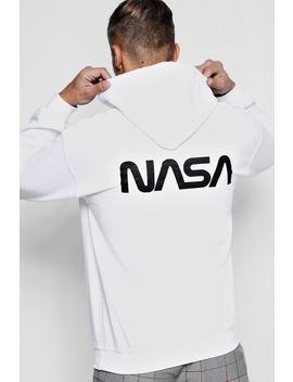 Large Nasa Logo Back Print Hoodie by Boohoo