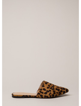 Get Wild Pointy Leopard Mule Flats by Go Jane