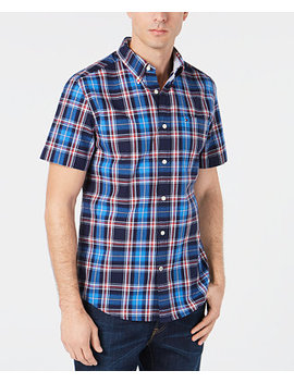 Men's Orser Madras Plaid Shirt, Created For Macy's by Tommy Hilfiger