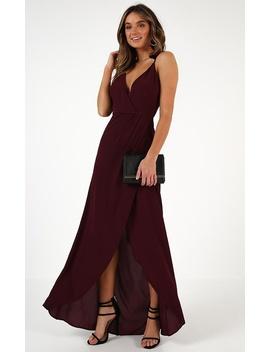 Trust Nobody Dress In Wine by Showpo Fashion