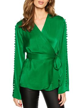 Button Wrap Top by Bardot