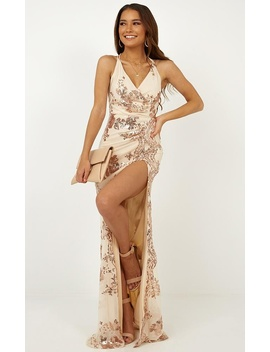 Out Till Dawn Dress In Rose Gold Sequin by Showpo Fashion