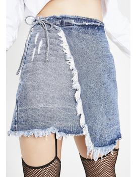 Denim Wrap Skirt by Momokrom