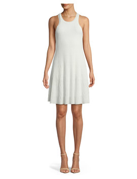 Clean Cotton Ottoman Knit Knee Length Tank Dress by Theory
