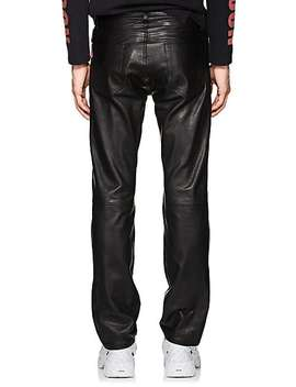 Leather Back Straight Jeans by Vetements