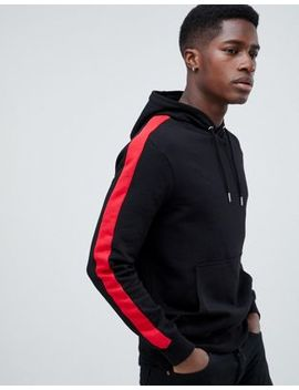 New Look Sweat With Side Stripe In Black by New Look