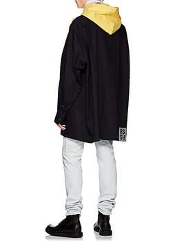 Play Print Cotton Terry Bib Hoodie by Raf Simons