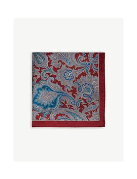 Wyatt Paisley Silk Pocket Square by Reiss