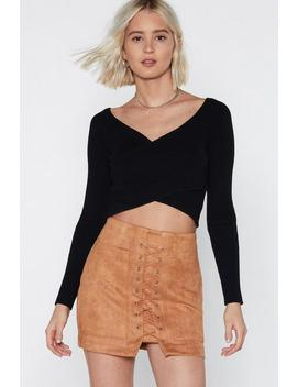 Cut Ties Suede Skirt by Nasty Gal