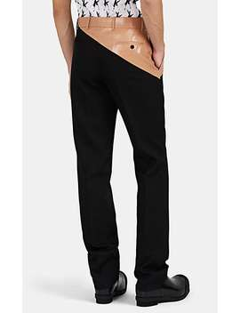 Coated Cotton Waist Wool Slim Trousers by Calvin Klein 205 W39 Nyc